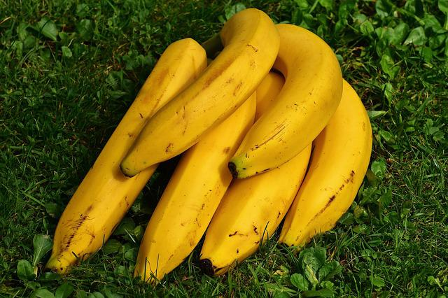 Bananas, Fruits, Fruit, Healthy, Yellow, Banana Peel
