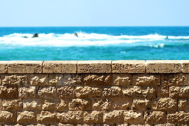 Jaffa, Israel, Sea, Fence, Heap