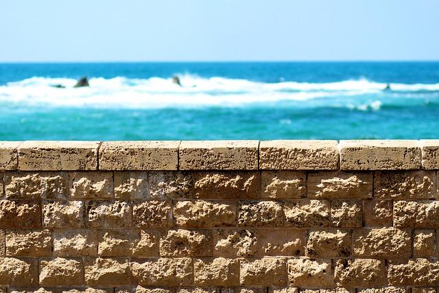 Jaffa, Israel, Sea, Fence, Heap