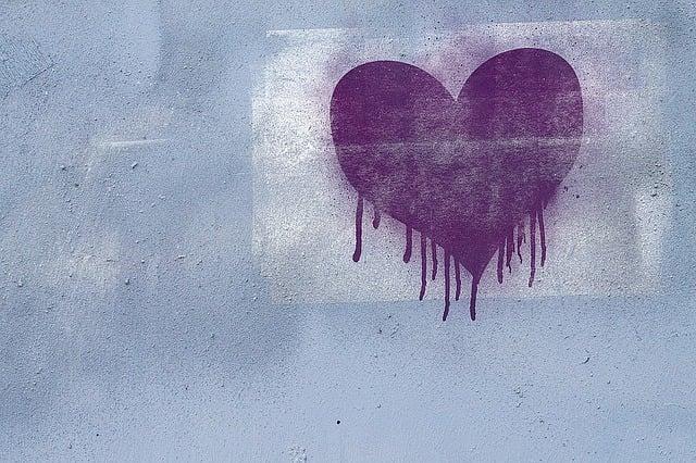 Graffiti, Background, Grunge, Texture, Heart