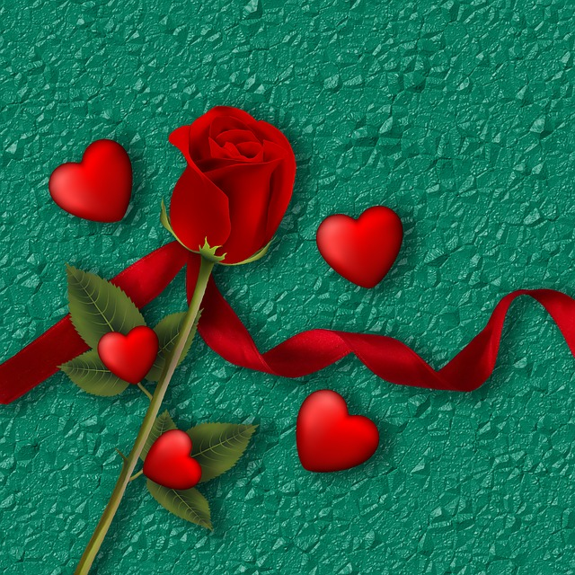 Background, Texture, Red Rose, Rosa, Heart, Red Heart