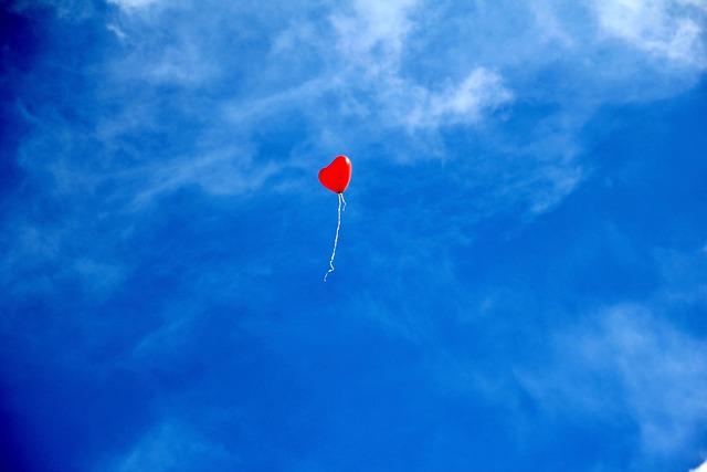 Heart, Balloon, Sky, Love, Red Balloon, Heart Balloon