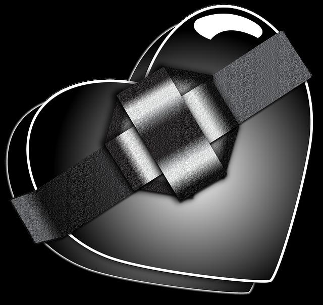 Black, Heart, Valentine, Love, Hate, Passion