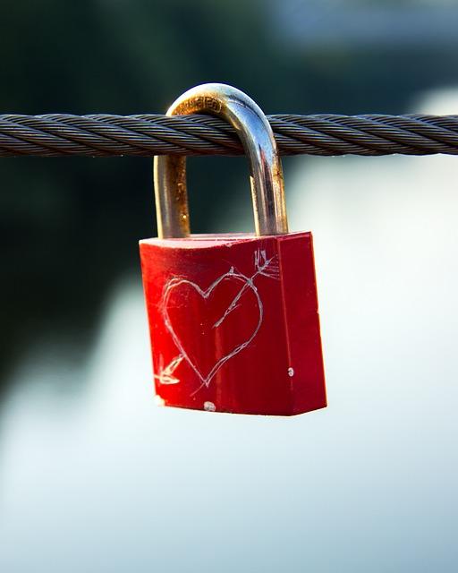 Heart, Castle, Bridge, Love, Padlock, Connection