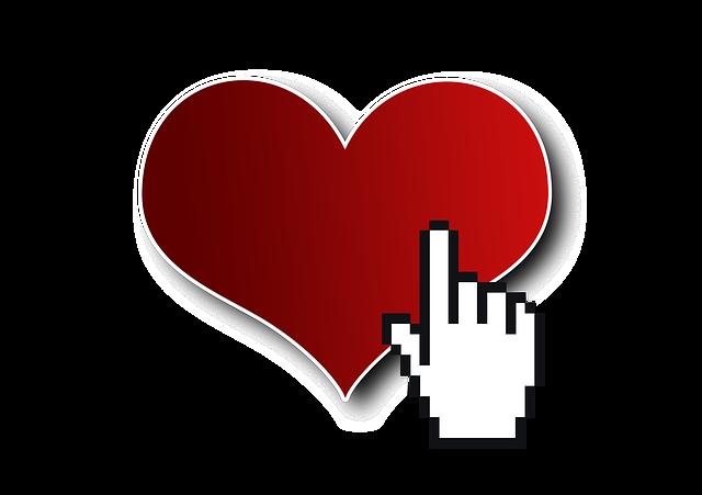 Cursor, Click, Heart, Love, Date, Internet, Dating