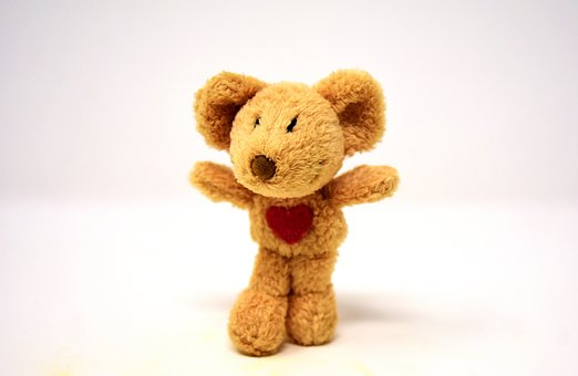 Mouse, Heart, Love, Stuffed Animal, Soft Toy, Cute