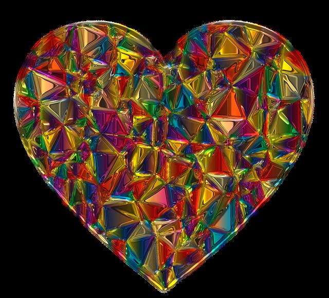 Valentine, Deco, Heart, Metallizer, Art, Glass, Love