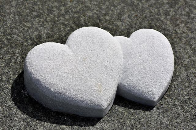 Heart, Stone Hearts, Stone, Decoration, Emotion