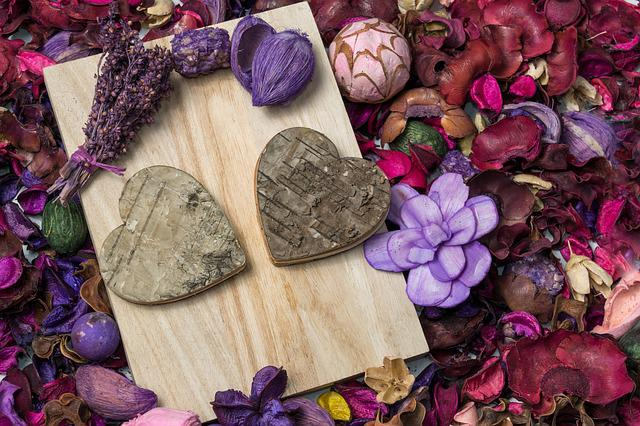 Valentine's Day, Heart, Flowers, Lavender, Love, Nature
