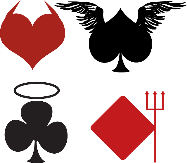 Cards, Angel, Card, Club, Devil, Diamond, Halo, Heart