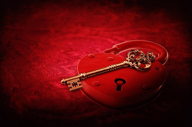 Heart Lock, Key, Valentine's Day, Valentine, Red, Love