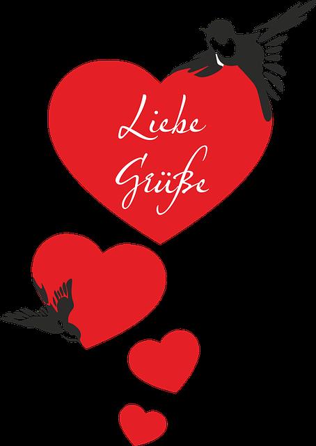 Swallows, Heart, Valentine's Day, Greeting, Bird, Love
