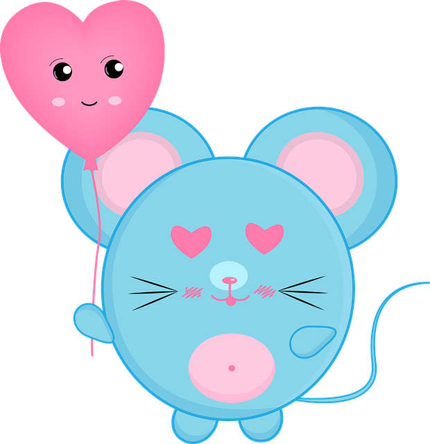 Mouse, Rat, Love, Heart, Valentine, Cute, Lovely