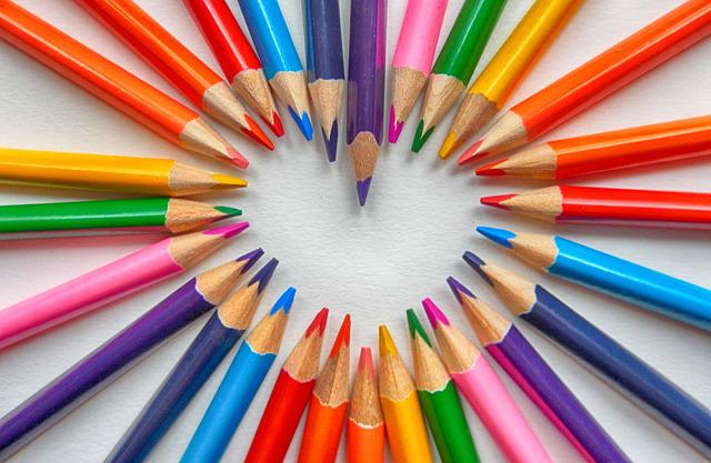 Colored Pencils, Heart, Love, Map, Romance, Greetings