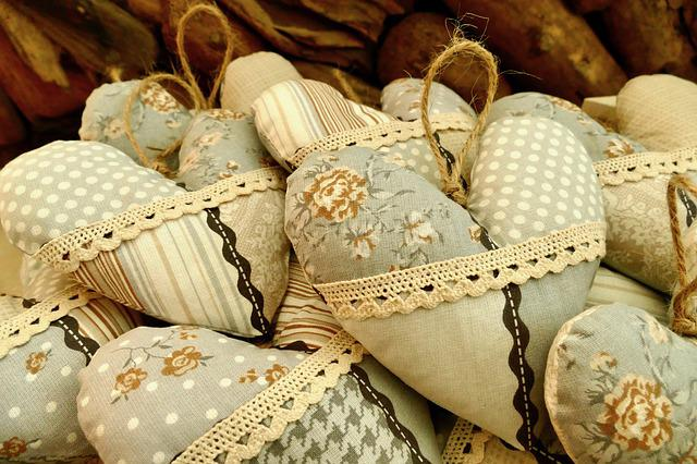 Fabric, Pattern, Colorful, Heart