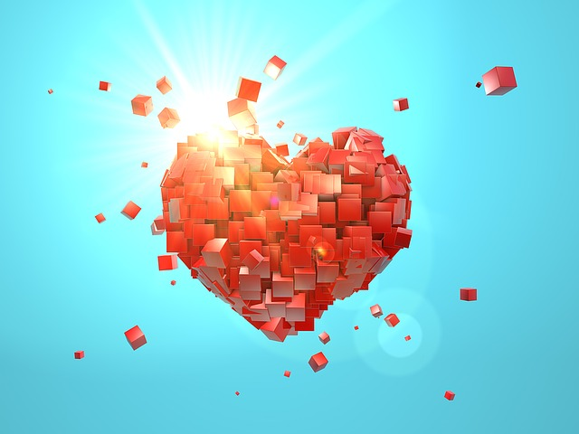 Heart, Explosion, Valentine's Day, Love, Red, Bright