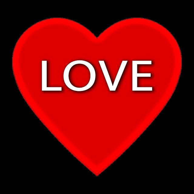 Love, Love Heart, Hearts, Heart Shape, Typography