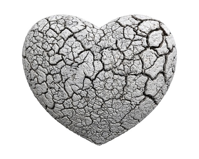 Heart, 3d, Stone, White, Pain, Old, Isolated