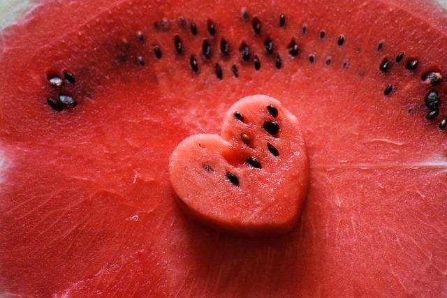 Heart, Watermelon, Red, Fruit, Summer, Fresh, Sweet