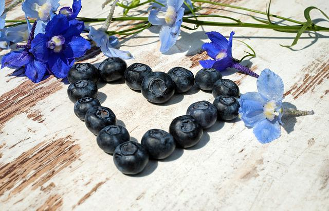 Blueberries, Heart, Blue, Symbolic, Romantic, Welcome