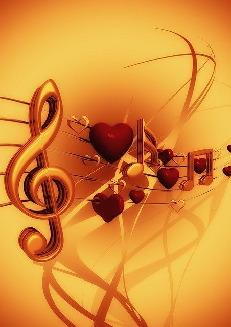 Clef, Music, Love, Heart, Treble Clef, Sound, Texture