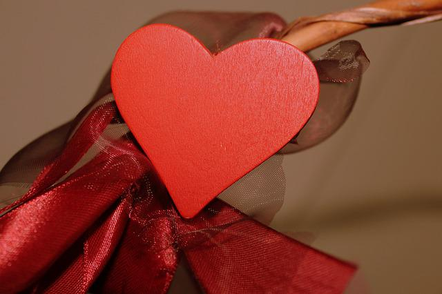 Heart, Decoration, Valentine's Day, Red, Bow, Ornament