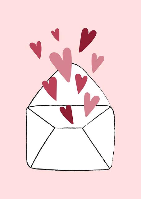 Hearts, Letter, Envelope, Love, Valentine, Cute