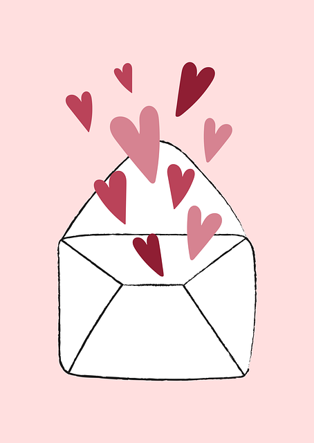 Hearts, Letter, Envelope, Love, Valentine, Cute