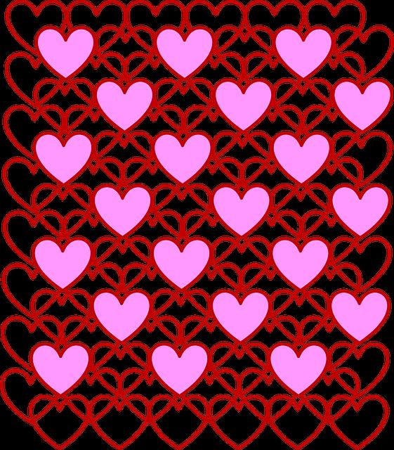 Valentine's Day, Valentine, Hearts, Love, Outline