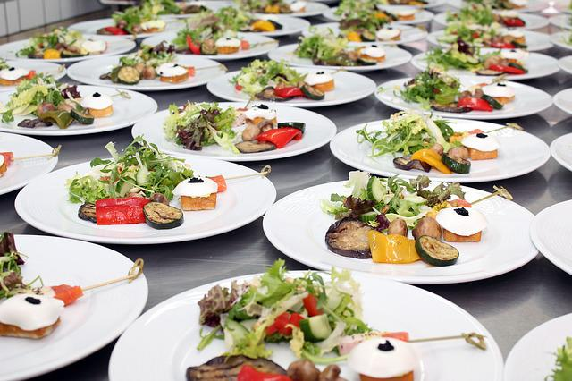 Salads, Plate, Buffet, Cold Buffet, Delicious, Hearty