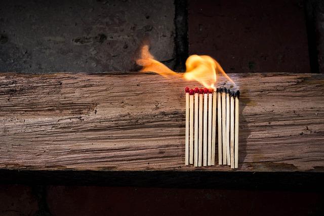 Matches, Matchstick, Flammable, Wood, Fire, Glow, Heat