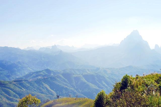 Laos, Mountain, Annam Mountain Range, Thick Cloud, Heat