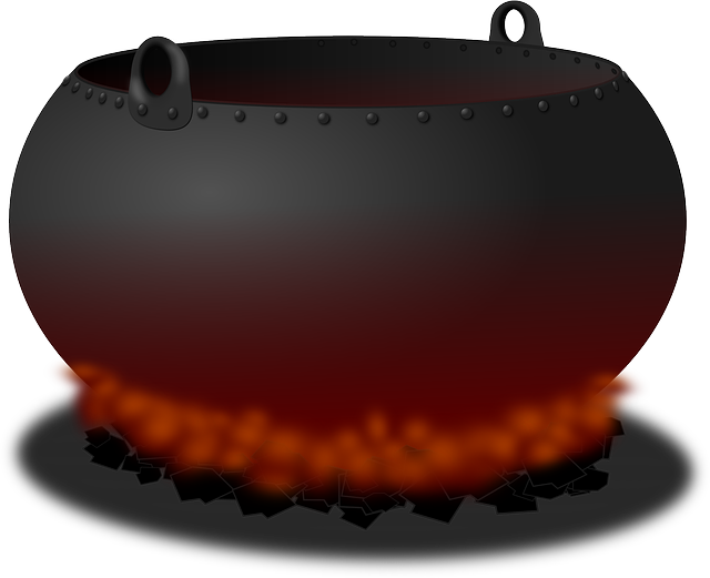 Cauldron, Pot, Fire, Heat, Cooking, Hell