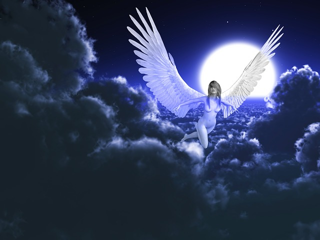 Angel, Heaven, Spiritual, Sky, Angelic, Mystical