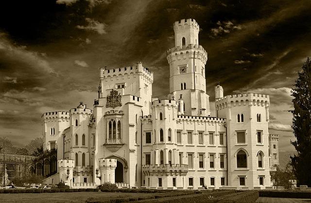 Castle, Hluboká, Heaven, South Bohemia, Architecture