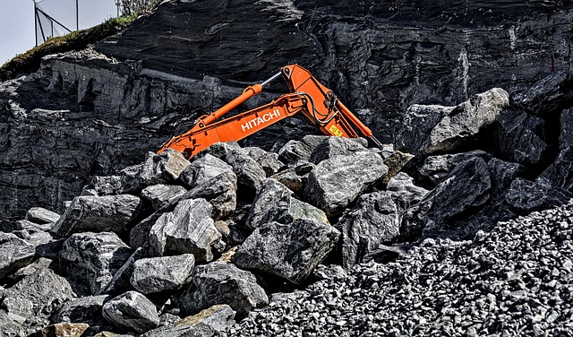 Digger, Rocks, Construction, Industry, Equipment, Heavy