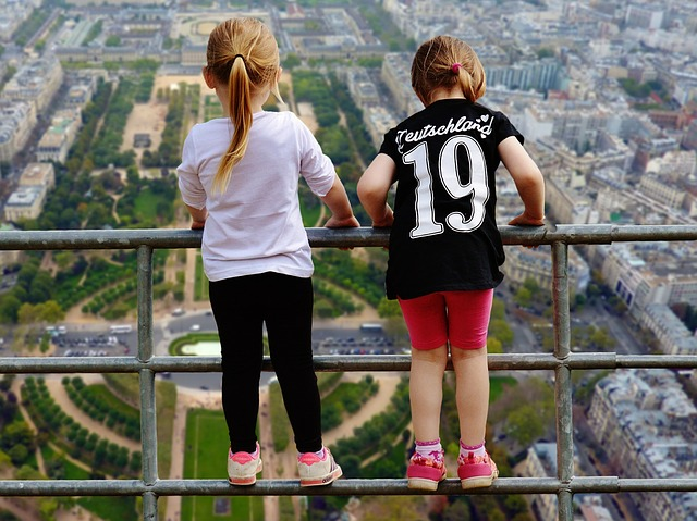 Girl, View, Courageous, Height, No Fear Of Heights