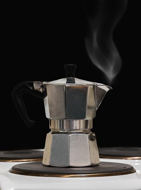 Tea, Coffee, Smoke, Steam, Heiss, Old Coffee Maker