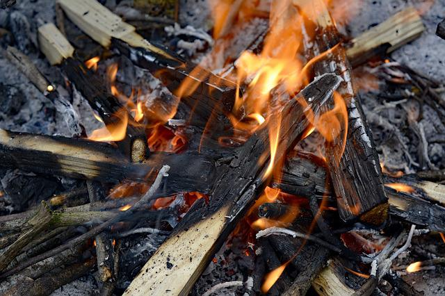 Fire, Grilling, Burn, Wood, Ash, Heiss, Flame, Yellow
