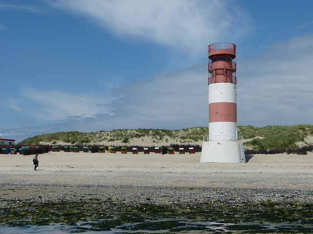 Lighthouse, Helgoland, Dune, Rest, Beach, Holiday, Sea