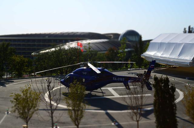Helicopter, Helipad, Transport