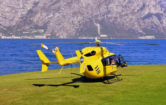Helicopter, Emergency, Lake, 118, Rescue