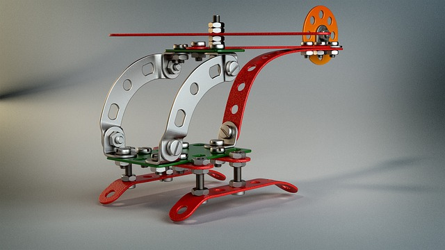 Technology, Toys, Helicopter, Kit, Metal