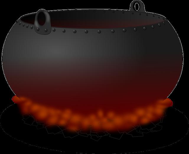 Cauldron, Pot, Fire, Heat, Cooking, Hell