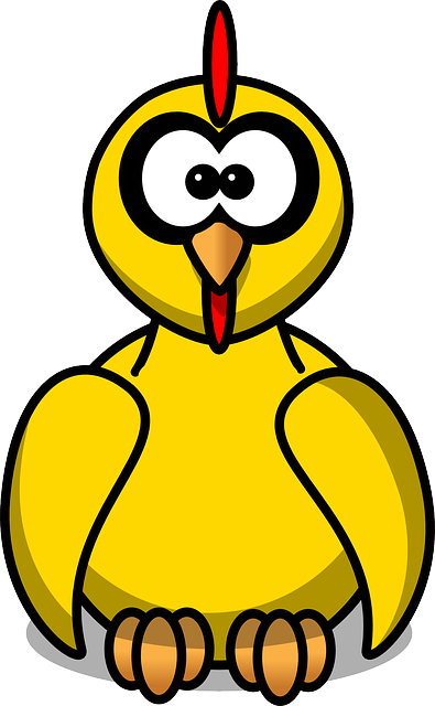 Animal, Bird, Chicken, Hen, Funny, Cute, Yellow