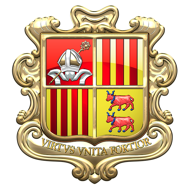 Andorra, Coat Of Arms, Heraldry, Emblem