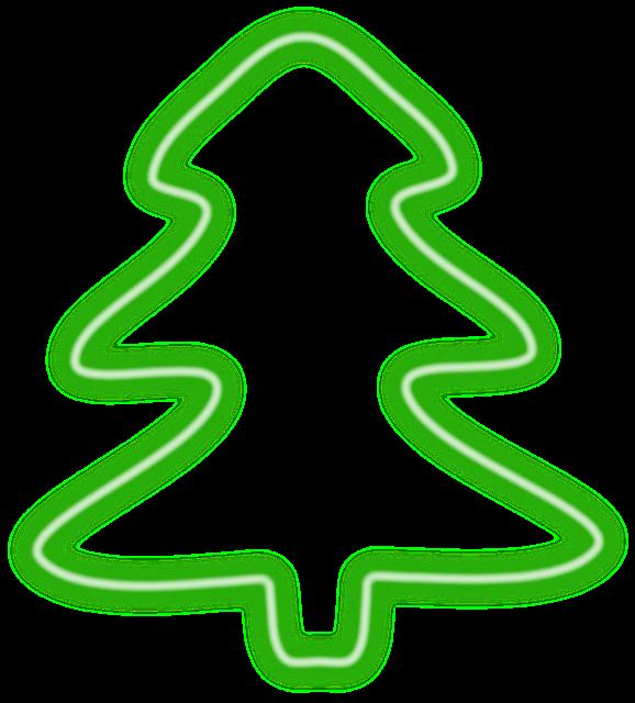 Christmas Tree, Neon, Herbaceous, Christmas