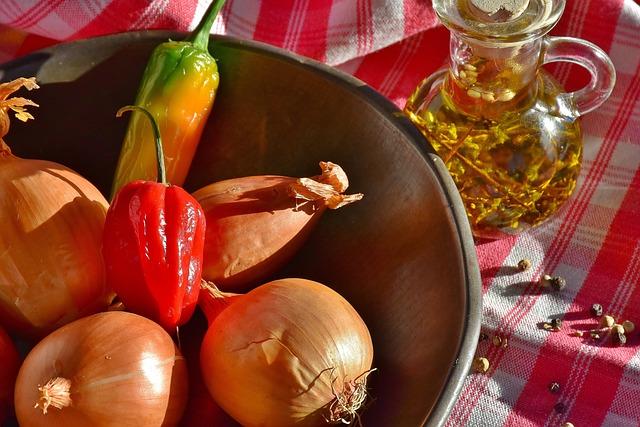 Onion, Pepperoni, Oil, Thyme, Kitchen, Herbs, Vitamins