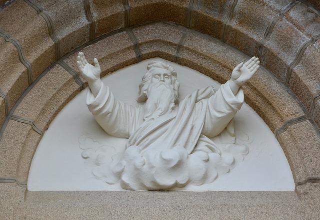 Sculture Of God, Religious Figure, Heritage