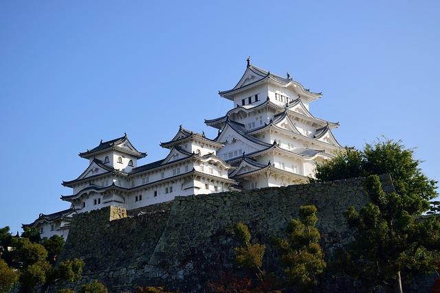 Himeji, Castle, Japan, Heritage, Tourism, Asia